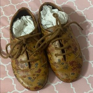 Zara baby floral Blucher shoes - rare sz 4.5